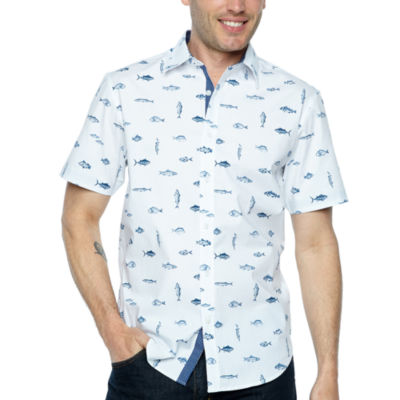 Society Of Threads Short Sleeve Button-Front Shirt