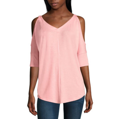 a.n.a. Elbow Sleeve Cold Shoulder