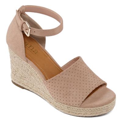a.n.a Womens Brenda Wedge Sandals