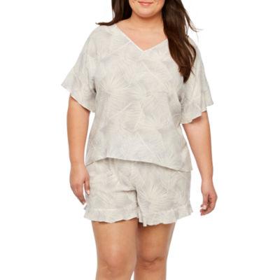 Ambrielle Shorts Pajama Set-Plus