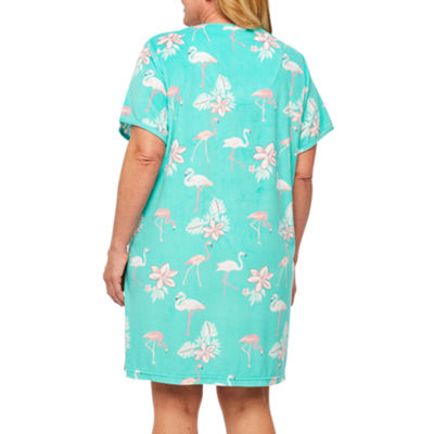 Adonna Short Sleeve Terry Cloth Robe-Plus