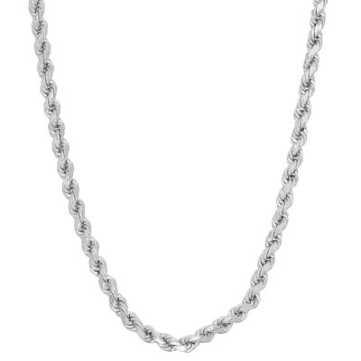 Sterling Silver Solid Rope 16 Inch Chain Necklace