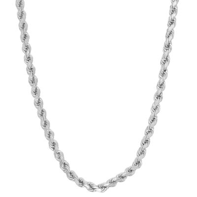 Sterling Silver 16 Inch Solid Rope Chain Necklace