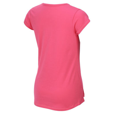 adidas Short Sleeve Round Neck T-Shirt-Big Kid Girls