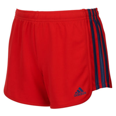adidas Mesh Three Stripe Short - Girls 7-16