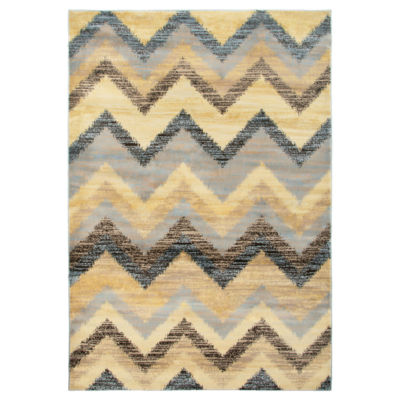 Rizzy Home Bay Side Collection Daisy Chevron Rug