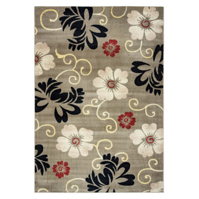 Rizzy Home Bay Side Collection Ella Floral Rug