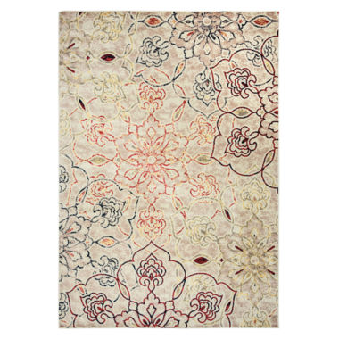 Rizzy Home Bay Side Collection Holly Floral Rug