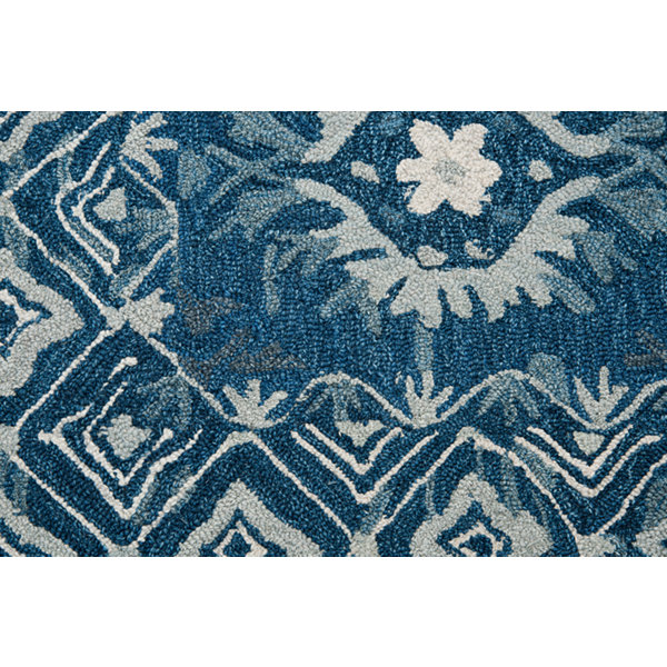 Rizzy Home Zingaro Collection Roxy Hand-Tufted Medallion Rug
