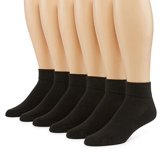 Fruit of the Loom Fruit Of The Loom Breathables 6 Pair Low Cut Socks-Mens