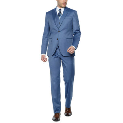 JF J.Ferrar Light Blue Twill Slim Fit Suit Separates