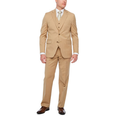Stafford Travel Khaki Twill Classic Fit Suit Separates