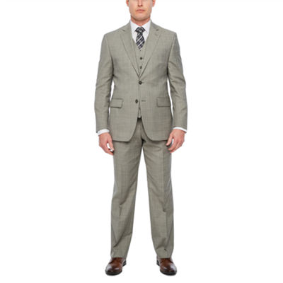 Stafford Travel Brown Check Classic Fit Suit Separates
