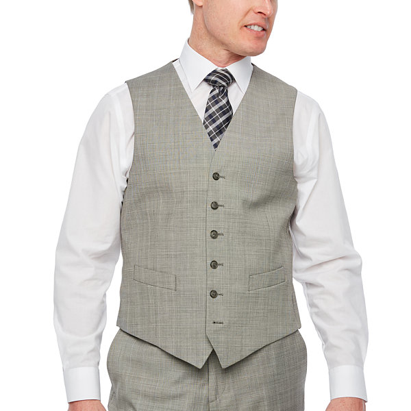 Stafford Checked Classic Fit Suit Vest