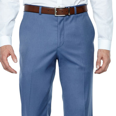 JF J.Ferrar Stretch Light Blue Twill Slim Fit Suit Pants