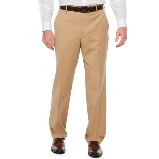 Stafford Travel Khaki Stretch Classic Fit Suit Pants