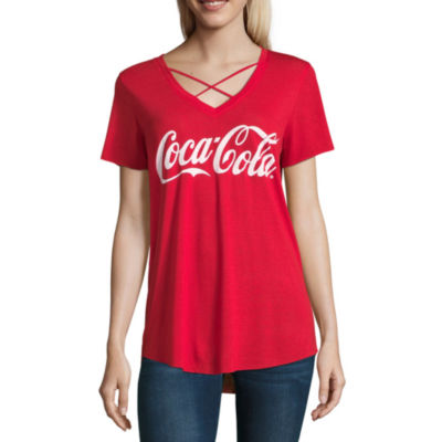 Coca Cola Raw Hem Tee - Juniors