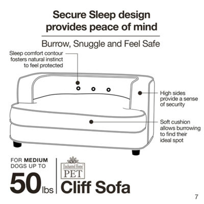 Enchanted Home Cliff Pet Sofa