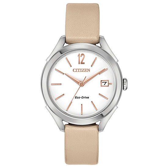Drive from Citizen Womens Pink Strap Watch-Fe6140-03a