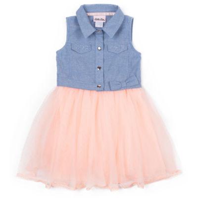 Girls Rule Sleeveless Chambray Dress - Baby Girls