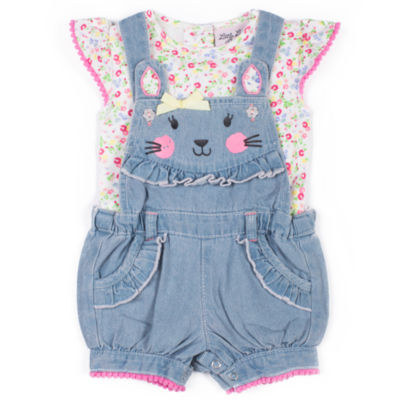 Little Lass 2-pack Shortall Set Baby Girls