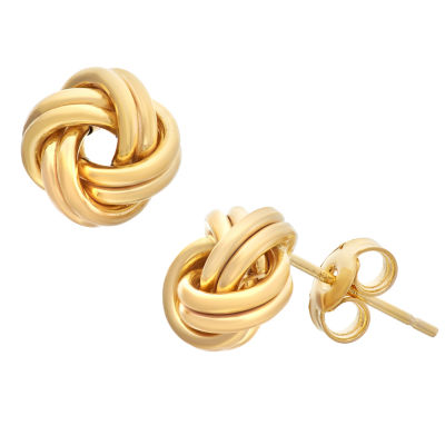 Made In Italy 14K Gold 8.2mm Knot Stud Earrings