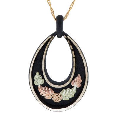 Black Hills Gold Womens Flower Pendant