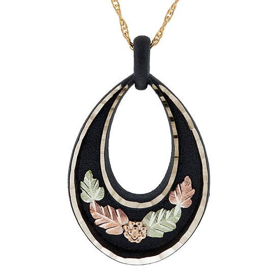 Black Hills Gold Womens Flower Pendant