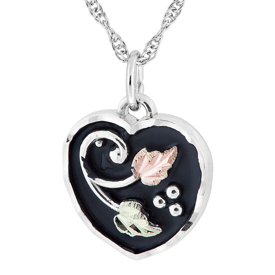 Black Hills Gold Womens Sterling Silver Flower Pendant