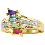 Artcarved Celebrations Of Life Multi Color Stone 10K Gold Band
