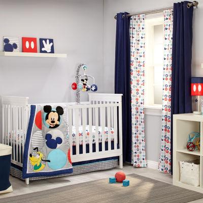 Disney Mickey Best Buddies 4-pc. Mickey Mouse Crib Bedding Set