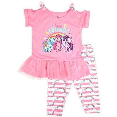 2-pc. My Little Pony Legging Set-Toddler Girls