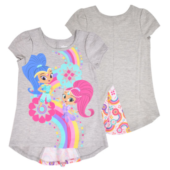 Shimmer And Shine Minnie Mouse Graphic T-Shirt-Toddler Girls