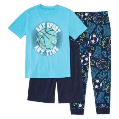 Arizona 3-pc. Pajama Set Boys-Husky