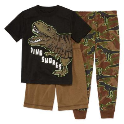 Arizona 3-pc. Dino Pajama Set Boys-Husky
