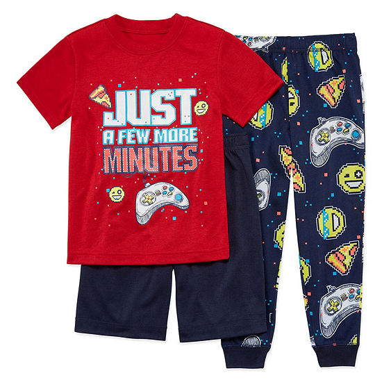 Arizona Big Kid Boys 3-pc. Pajama Set