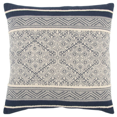 Rizzy Home 20x20 IN Kate Various Cotton Square Decorative Pillow