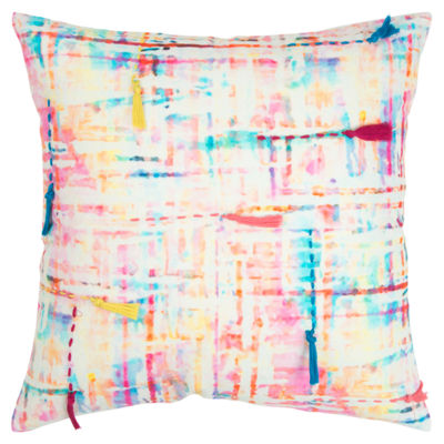 Rizzy Home 20x20 IN Yandel Abstract Square Throw Pillow