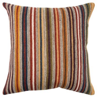 Rizzy Home 20x20 In Itzel Stripe Square Throw Pillow