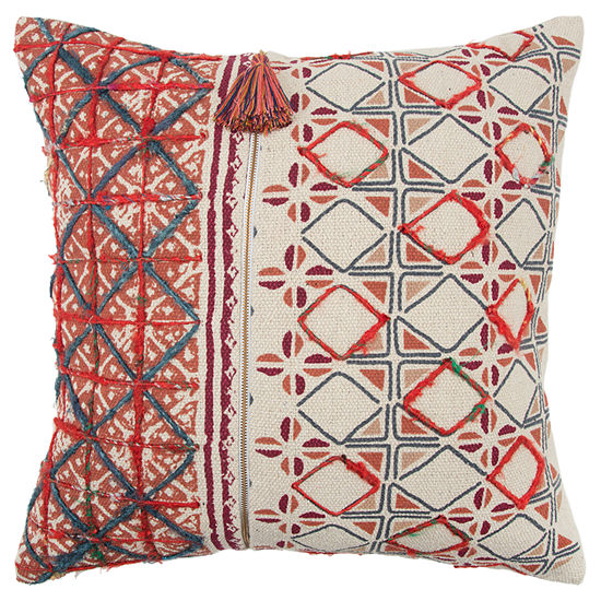 Rizzy Home 20x20 IN Miracle Abstract Square Throw Pillow