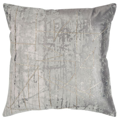 Rizzy Home 20x20 IN Serenity Abstract Square Throw Pillow