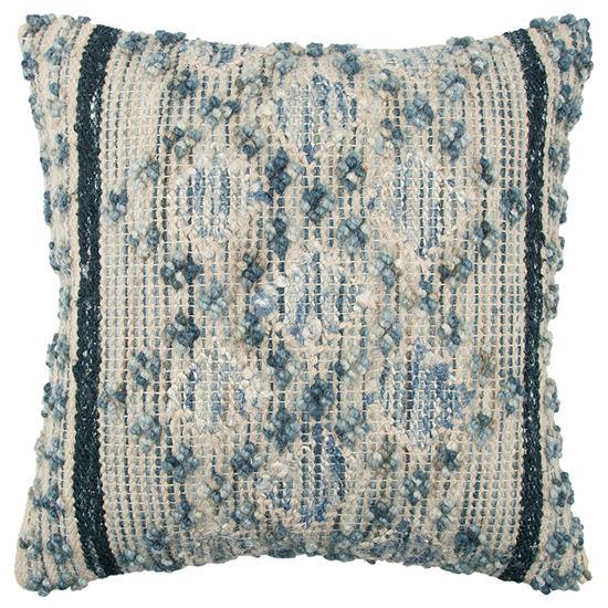Rizzy Home 20x20 IN Braylon Diamond Square Throw Pillow