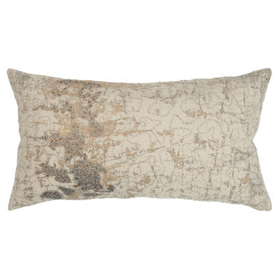 Rizzy Home 14x26 IN Precious Abstract Oblong Throw Pillow