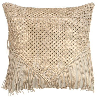 Rizzy Home 20x20 IN Monserrat Pindot Square Throw Pillow