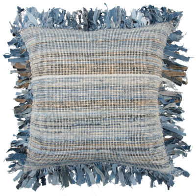 Rizzy Home 22x22 IN Hamza Stripe Square Throw Pillow
