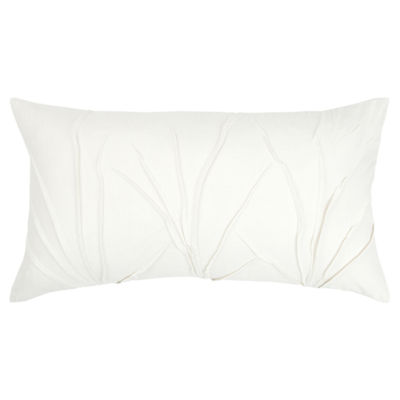 Rizzy Home 14x26 IN Draven Solid Oblong Throw Pillow
