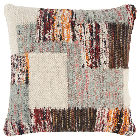 Rizzy Home 20x20 IN Harmony Patchwork Square Throw Pillow