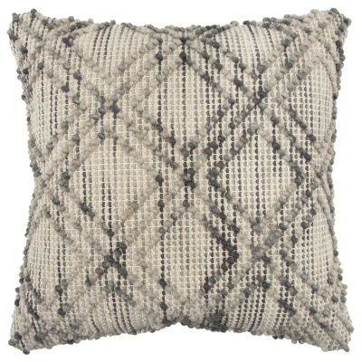 Rizzy Home 20x20 IN Bethzy Diamond Square Throw Pillow