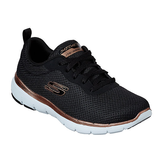 Skechers Flex Appeal 3.0 Womens Lace-up Sneakers