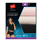 Hanes Ultimate™ Constant Comfort® X-Temp® 3 Pair Knit Brief Panty 40xtb5